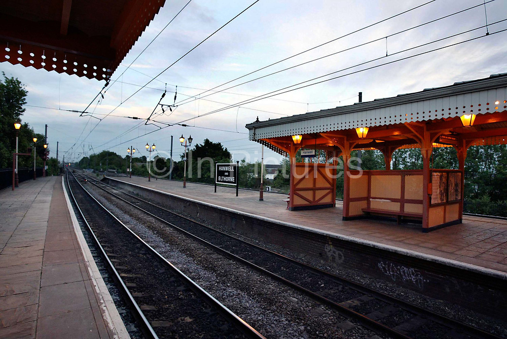 Hanwell Train Station in London. Part of Transport for London's overland rail network. Over recent years many of the stations in and around London have fallen into disrepair, with stations seemingly falling apart, graffiti covered and generally overused, and dirty. Not the ideal environment for the paying public to travel around the capital upon. Many commuters complain about the high prices that they pay on a monthly basis for services which are in no fit state.