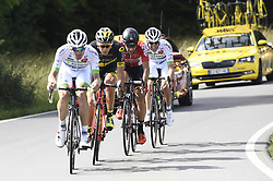 July 3, 2017 - Longwy, FRANCE - French Pierre Luc Perichon of Team fortuneo - Oscaro, French Lilian Calmejane of Direct Energie, Belgian Thomas De Gendt of Lotto Soudal and French Romain Hardy of Team fortuneo - Oscaro pictured in action during the third stage of the 104th edition of the Tour de France cycling race, 212,5 km from Verviers, Belgium to Longwy, France, Monday 03 July 2017. This year's Tour de France takes place from July first to July 23rd...BELGA PHOTO YORICK JANSENS (Credit Image: © Yorick Jansens/Belga via ZUMA Press)