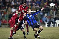 DEBRECEN (HUN)  03/03/2004<br /> FOOTBALL / VOETBAL / SPORT<br /> 1/8 FINALE UEFABEKER / 1/8 FINALE COUPE UEFA / DEBRECEN - CLUB BRUGGE / DEBRECEN - FC BRUGGE / <br /> RUNE LANGE /<br /> PICTURE BY NICO VEREECKEN<br /> Digitalsport