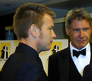Ewan McGregor & Harrison Ford.Hollywood Movie Awards Gala.For The Hollywood Film Festival.Beverly Hilton Hotel.Los Angeles, CA, USA.August 06, 2001.Photo by Celebrityvibe.com..