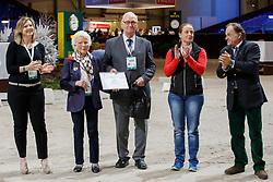 Brandtner Nadine, Bastian Inge, Bastian Günter, Werth Isabel, Xavier Libbrecht<br /> WBFSH Prize Giving<br /> CHI de Genève 2017<br /> © Hippo Foto - Dirk Caremans<br /> 09/12/2017