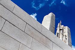 25.06.2016, Vimy, FRA, das kanadische Denkmal von Vimy, im Bild die Wand der Gefallenen und die Türme. Zwei weiße Türme dominieren die Ebene von Lens und erinnern an die Schlacht von Vimy, die im April 1917 stattfand // The Canadian National Vimy Memorial is a memorial site dedicated to the memory of Canadian Expeditionary Force members killed during the First World War at Vimy, France on 2016/06/25. EXPA Pictures © 2016, PhotoCredit: EXPA/ JFK