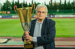 Darko Klaric, former president during celebration of NK Bravo, winning team in 2nd Slovenian Football League in season 2018/19 after they qualified to Prva Liga, on May 26th, 2019, in Stadium ZAK, Ljubljana, Slovenia. Photo by Vid Ponikvar / Sportida
