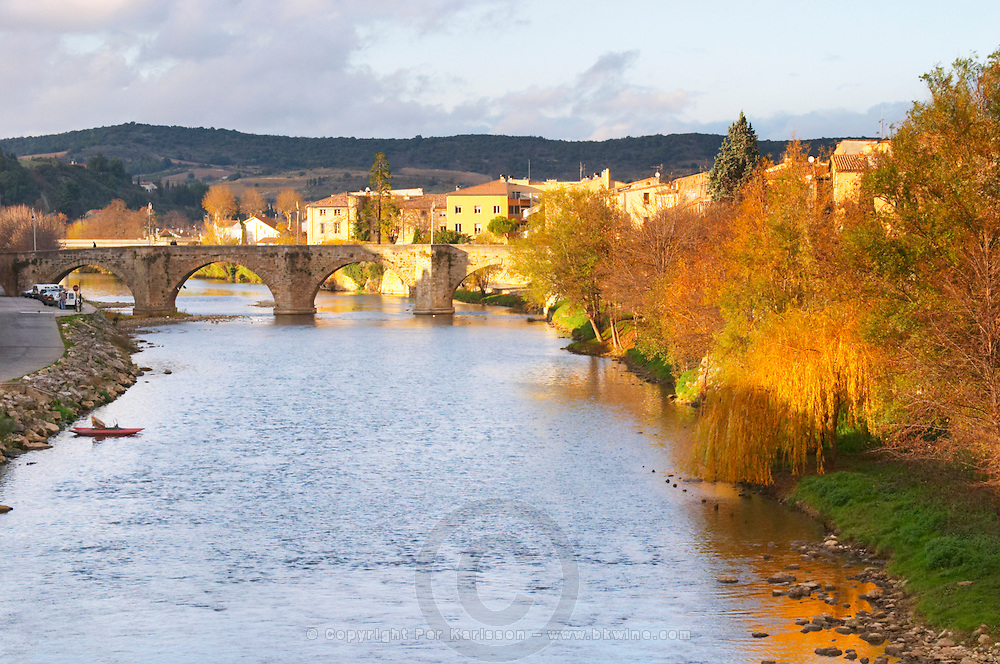 Town of Limoux. Limoux. Languedoc. Aude river. France. Europe.