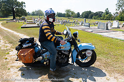 CCC event promoter Jason Sims on his 1946 Harley-Davidson Model U Flathead in his Cross Country Chase motorcycle endurance run from Sault Sainte Marie, MI to Key West, FL. (for vintage bikes from 1930-1948). Stage-6 from Chattanooga, TN to Macon, GA USA covered 258 miles. Wednesday, September 11, 2019. Photography ©2019 Michael Lichter.