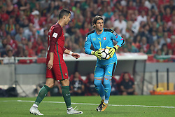 October 10, 2017 - Lisbon, Portugal - Switzerland's goalkeeper Yann Sommer makes a safe by Portugal's forward Cristiano Ronaldo during the 2018 FIFA World Cup qualifying football match between Portugal and Switzerland at the Luz stadium in Lisbon, Portugal on October 10, 2017. Photo: Pedro Fiuza  (Credit Image: © Pedro Fiuza/NurPhoto via ZUMA Press)