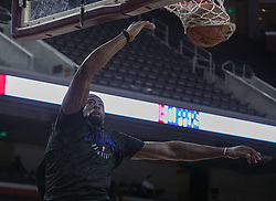 October 10, 2017 - Los Angeles, California, U.S - DeAndre Jordan #6 of the Los Angeles Clippers goes for dunk during their Free Open Practice for fans held on Tuesday October 10, 2017 at the Galen Center in USC in Los Angeles, California. (Credit Image: © Prensa Internacional via ZUMA Wire)