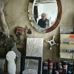 Paris, France. March 13, 2015. Philippe Anthonioz, sculptor, in his workshop. Photo: Antoine Doyen for the Wall Street Journal. MAKEIT