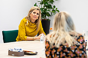NOORDWIJK, 13-11-2020,  's Heeren Loo<br /> <br /> Koningin Maxima tijdens een werkbezoek aan woonzorgpark Willem van den Bergh, onderdeel van zorgorganisatie 's Heeren Loo, in Noordwijk. Het bezoek stond in het teken van de impact van de corona-uitbraak op de zorg en begeleiding van mensen met een verstandelijke en/of lichamelijke beperking.<br /> <br /> Queen Maxima during a working visit to Willem van den Bergh residential care park, part of the Heeren Loo care organization, in Noordwijk. The visit focused on the impact of the corona outbreak on the care and guidance of people with a mental and / or physical disability.