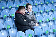 Fan in the stand ahead of the EFL Sky Bet League 1 match between Portsmouth and Ipswich Town at Fratton Park, Portsmouth, England on 21 December 2019.