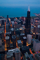 Willis Tower & Lake Michigan