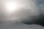 Winter view into Eskdale from Esk Pike