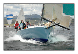 Sailing - The 2007 Bell Lawrie Scottish Series hosted by the Clyde Cruising Club, Tarbert, Loch Fyne..The final days racing had cold steady Northerly breeze to decide the overall placings...IRC Class 1 Aunt Jessie USA13696.