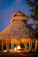 A never-ending fire is maintained at the Agni Hotri pavillion, where Balinese priests offer prayers to purify the Earth.