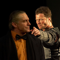 Andras Stohl (R) plays the role of Edmund in William Shakespeare's King Lear premiere in Hungarian National Theatre directed by Laszlo Bocsardi. Budapest, Hungary. Wednesday 07 February 2007. ATTILA VOLGYI