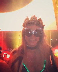 """Paris Hilton releases a photo on Instagram with the following caption: """"#GoodTimes at @EDC_LasVegas with my girls @HollyMadison \u0026 @Jocelyn. \ud83c\udfb6\ud83d\ude06\ud83d\ude06\ud83d\ude06\ud83c\udfb6 #YASSSSSSS! #EDC \ud83c\udf89"""". Photo Credit: Instagram *** No USA Distribution *** For Editorial Use Only *** Not to be Published in Books or Photo Books ***  Please note: Fees charged by the agency are for the agency's services only, and do not, nor are they intended to, convey to the user any ownership of Copyright or License in the material. The agency does not claim any ownership including but not limited to Copyright or License in the attached material. By publishing this material you expressly agree to indemnify and to hold the agency and its directors, shareholders and employees harmless from any loss, claims, damages, demands, expenses (including legal fees), or any causes of action or allegation against the agency arising out of or connected in any way with publication of the material."""