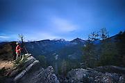 Woman hiking in Montana's Bitterroot Mountains.