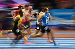 March 4, 2018 - Birmingham, England, United Kingdom - Milan Trajkovic ofCyprus at 60 meters hurdles at World indoor Athletics Championship 2018, Birmingham, England on March 4, 2018. (Credit Image: © Ulrik Pedersen/NurPhoto via ZUMA Press)