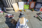 The roadblock protests in front of the Canadian Embassy in Central London against Bill 156 and animal cruelty is continuing on Friday, June 26, 2020. Two activists who seem to have chained themselves in the middle of the street facing the entrance of the Canada House, are subject to possible arrest from the MET Police who have called a dismantling crew on the ground to release the activists from the chains. (Photo/ Vudi Xhymshiti)