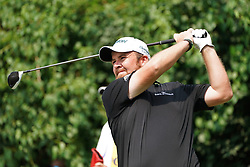 August 12, 2018 - St. Louis, Missouri, United States - Shane Lowry tees off the 9th hole during the final round of the 100th PGA Championship at Bellerive Country Club. (Credit Image: © Debby Wong via ZUMA Wire)