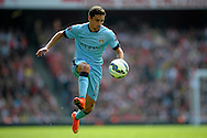 Manchester City's Jesus Navas in action. Barclays Premier league match, Arsenal v Manchester city at the Emirates Stadium in London on Saturday 13th Sept 2014.<br /> pic by John Patrick Fletcher, Andrew Orchard sports photography.