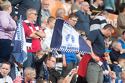 Main stand. Falkirk 1 v 2 Hibernian, the first Scottish Championship game of season 2016/17, played 6/8/2016 at The Falkirk Stadium. Pics by © Ross Schofield