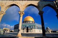 Israel - Jerusalem - Dôme du Rocher, esplanade des mosquées