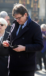 David Frost Memorial Service at Westminster Abbey<br /> <br /> Guardian Editor Alan Rusbridger<br /> <br /> Pic by Gavin Rodgers/Pixel 8000 Ltd © Licensed to London News Pictures. Photo credit: Gavin Rogers/LNP