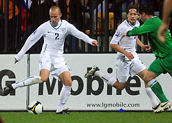 Miso Brecko (2) at the fourth round qualification game of 2010 FIFA WORLD CUP SOUTH AFRICA in Group 3 between Slovenia and Northern Ireland at Stadion Ljudski vrt, on October 11, 2008, in Maribor, Slovenia.  (Photo by Vid Ponikvar / Sportal Images)