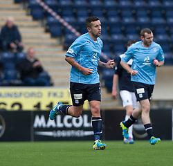 Dundee's Ryan Conroy cele scoring their goal.<br /> Falkirk 3 v 1 Dundee, 21/9/2013.<br /> ©Michael Schofield.