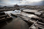 Only some destroyed steel constructions and groundwork can be seen in the town as relics of the tsunami. Ground has moved more than 4m horizontally and sunk 0.75m because of the earthquake.