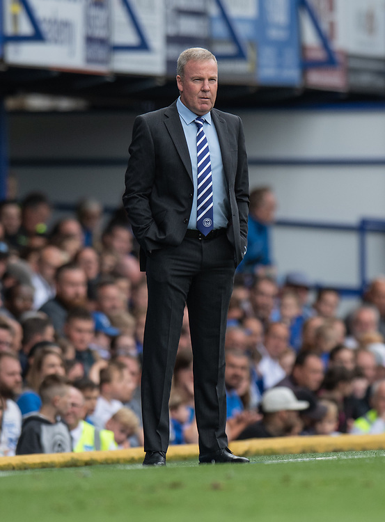 Portsmouth manager Kenny Jackett <br /> <br /> Photographer David Horton/CameraSport<br /> <br /> The EFL Sky Bet League One - Portsmouth v Shrewsbury Town - Saturday September 8th 2018 - Fratton Park - Portsmouth<br /> <br /> World Copyright © 2018 CameraSport. All rights reserved. 43 Linden Ave. Countesthorpe. Leicester. England. LE8 5PG - Tel: +44 (0) 116 277 4147 - admin@camerasport.com - www.camerasport.com