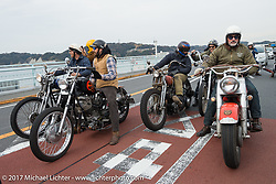 The Cycle Zombies' Turk Stopnik and Wheels and Waves' Vincent Prat on the Blue Groove shop ride from Kamakura to Miura Penninsula. Japan. Monday December 4, 2017. Photography ©2017 Michael Lichter.