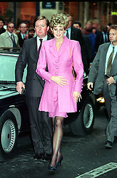 """Embargoed to 0001 Thursday August 10 File photo dated 14/11/1992 of the Princess of Wales arriving at an Aids Information kiosk in the Latin quarter of Paris with her bodyguard Inspector Ken Wharfe. Diana was left feeling triumphant after the Prince of Wales was criticised over the """"Camillagate"""" tape she branded """"sick"""" for its reported infamous tampon reference."""