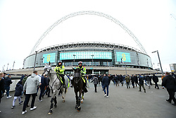 Fans arriving at the ground before the game