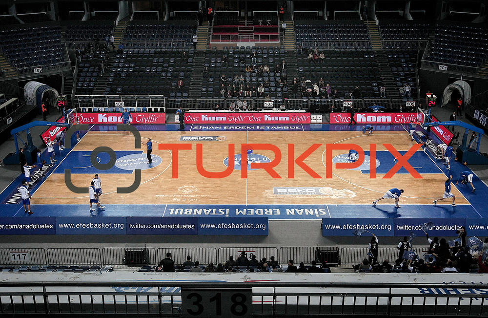 Anadolu Efes's and Turk Telekom's during their Turkish Basketball League match Anadolu Efes between Turk Telekom at Arena in Istanbul, Turkey, Wednesday, January 04, 2012. Photo by TURKPIX