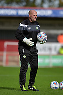 Forest Green Rovers Goalkeeping Coach Steve Hale during the EFL Sky Bet League 2 match between Stevenage and Forest Green Rovers at the Lamex Stadium, Stevenage, England on 21 October 2017. Photo by Adam Rivers.
