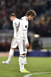 November 27, 2018 - Rome, Rome, Italy - Luka Modric of Real Madrid looks dejected during the UEFA Champions League match between Roma and Real Madrid at Stadio Olimpico, Rome, Italy on 27 November 2018. (Credit Image: © Giuseppe Maffia/Pacific Press via ZUMA Wire)