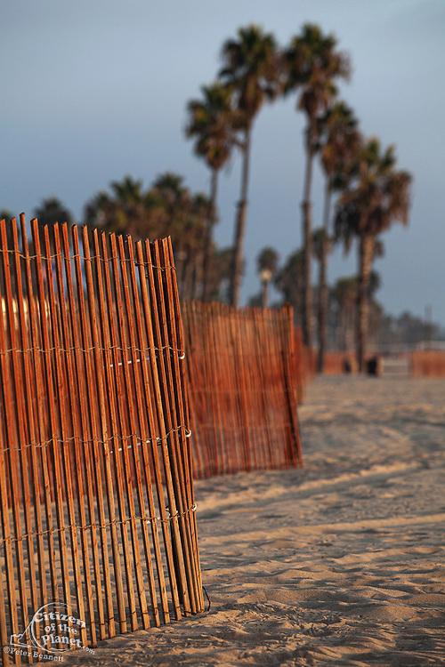 Santa Monica Beach fence, California, USA