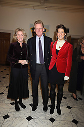Left to right, MR & MRS DAVID VEREY and their daughter ANNA VEREY at the opening of the Royal Academy of Arts Byzantium 330-1453 exhibition held at the RA, Burlington House, Piccadilly, London on 21st October 2008.