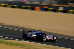 June 18, 2017 - Le Mans, Sarthe, France - Porsche LMP Team Porsche 919 Hybrid rider TIMO BERNHAR (GER) in action during the race of the 24 hours of Le Mans on the Le Mans Circuit - France (Credit Image: © Pierre Stevenin via ZUMA Wire)