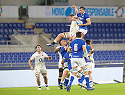 Braam Steyn (Italy) wins the lineout, Sam Underhill (England) during the Guinness Six Nations 2020, rugby union match between Italy and England on October 31, 2020 at the Stadio Olimpico in Rome, Italy - Photo Luigi Mariani / LM / ProSportsImages / DPPI
