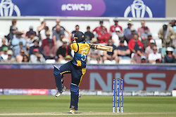 July 1, 2019 - Chester Le Street, County Durham, United Kingdom - Sri Lanka's Kusal Perera top edges a hook shot for four runs during the ICC Cricket World Cup 2019 match between Sri Lanka and West Indies at Emirates Riverside, Chester le Street on Monday 1st July 2019. (Credit Image: © Mi News/NurPhoto via ZUMA Press)