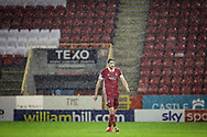 Aberdeen defender Ashton Taylor (14) during the Scottish Premiership match between Aberdeen and Hamilton Academical FC at Pittodrie Stadium, Aberdeen, Scotland on 20 October 2020.