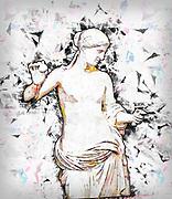 Digitally enhanced image of a statue of Venus of Arles