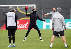 England's Deli Ali during a training session at Spartak Zelenogorsk Stadium.