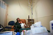 A woman is treated with Chemotherapy due to breast cancer. Photographed at the Chaim Sheba medical center at Tel Hashomer, Israel
