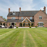The rear of a grand country property