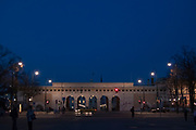 The outer castle gate on Heldenplatz at the Hofburg Palace, Vienna, Austria