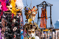 Italy, Venice. Carnival masks for sale.